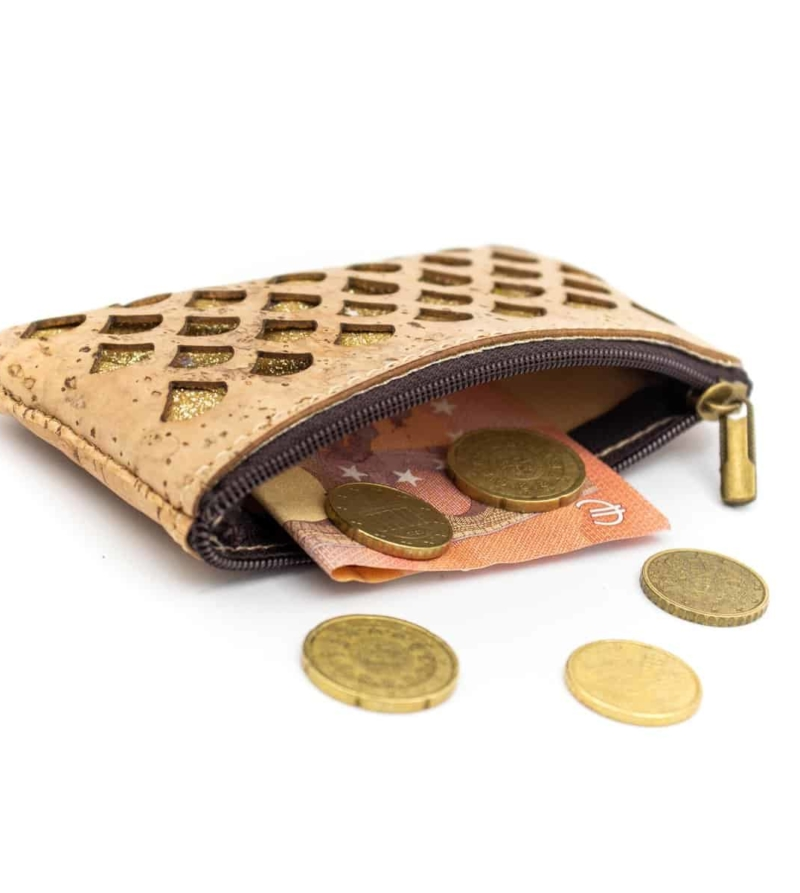 Kork Portemonnaie Perano gefuellt