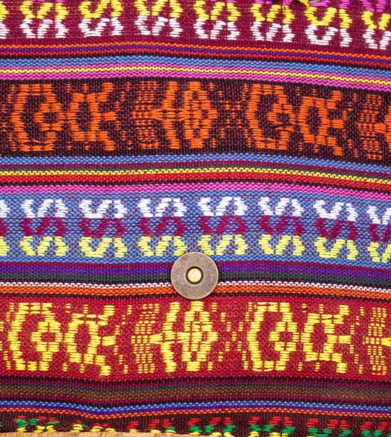 Kork Rucksack Serie Hippie Detail