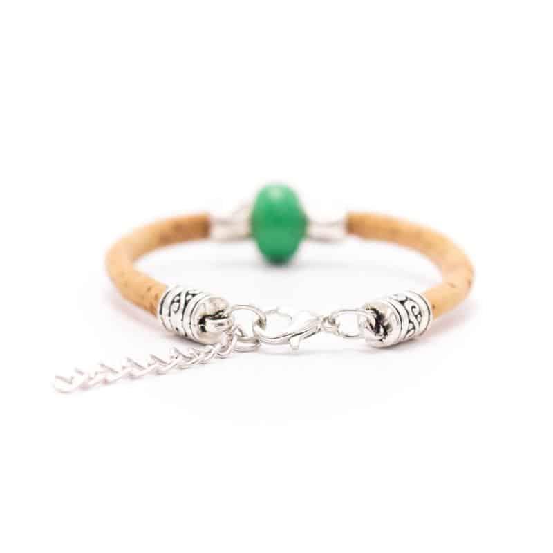Korkarmband Serie Roca grün hinten
